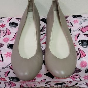 Boden Taupe Leather Flats